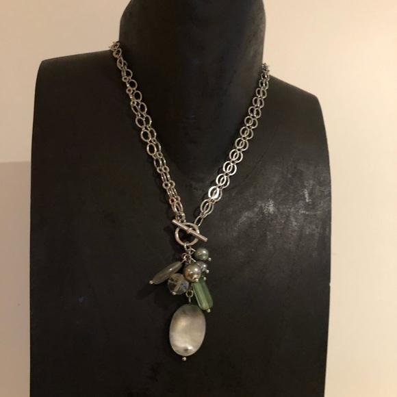 Lia Sophia Jewelry - Lia sophia two way rhodium plated necklace